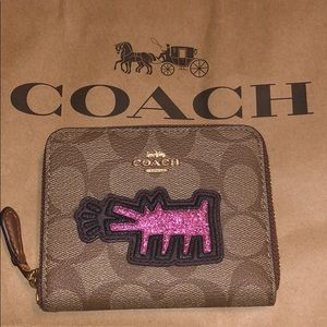 100% Authentic Coach Keith Haring Wallet